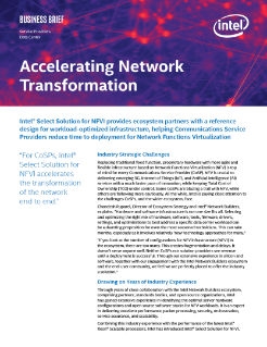 Accelerating Network Transformation for COSPs