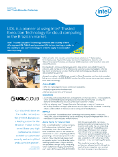 UOL Adopts Intel® Trusted Execution Technology for Cloud Computing