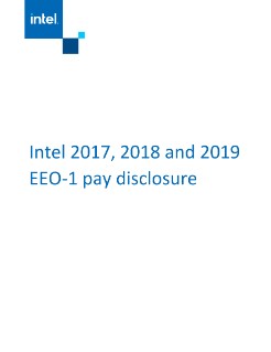 Intel 2017, 2018 and 2019 EEO-1 Pay Disclosure
