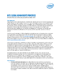 Intel Global Human Rights Principles