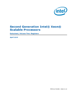 Second Generation Intel® Xeon® Scalable Processors Datasheet, Vol. 2
