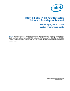 Intel® 64 and IA-32 Architectures Software Developer's Manual: Volume 3