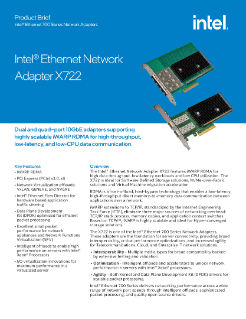 Intel® Ethernet Network Adapter X722