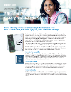 Intel® SSD Pro 5450s Series for Enterprise-Ready Security Brief