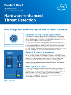 Intel® Threat Detection Technology (Intel® TDT) Product Brief