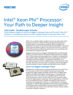 Intel® Xeon Phi™ Processor Product Brief
