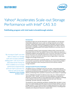 Intel and Yahoo Accelerate Scale-Out Storage Performance Brief