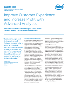 Advanced Analytics Improve Customer Experience and Profits