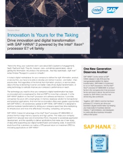 Solution Brief: SAP HANA 2* and Intel® Xeon® Processors