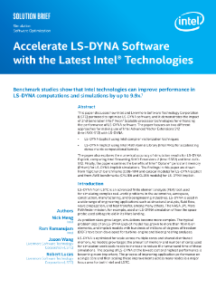 LS-DYNA and Two Different Ways to Use Intel® AVX-512