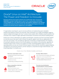Oracle Linux* on Intel® Architecture