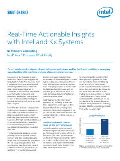 Accelerate Insights with Intel and Kx Systems*