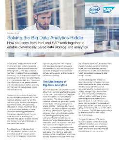 Intel and SAP Help Accelerate Big Data Gathering and Analytics