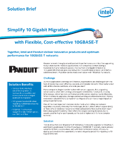 Simplify 10Gb Migration with 10GBASE-T