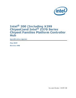 Intel® 200 and Z370 Series Chipset Families Platform Controller Hub (PCH) Spec Update