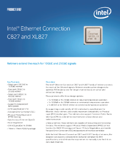 Brief: Intel® Ethernet Connection C827 and XL827