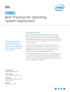 Best Practices for Operating System Deployment
