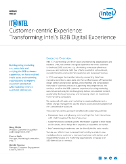 Customer-Centric Experience: Transforming B2B Digital Experiences