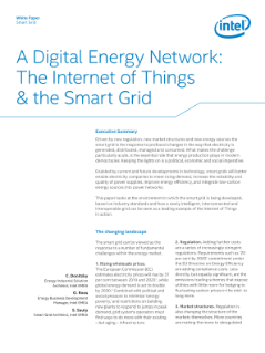 Digital Energy Network: The Internet of Things and the Smart Grid