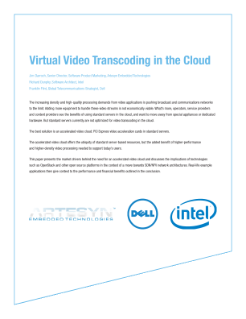 Virtual Video Transcoding in the Cloud