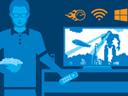 Иллюстрация использования системы Intel Compute Stick для развлечений дома